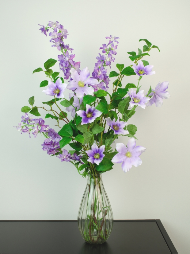 Silk-Ka Kunstbloemen boeket Purple Punch